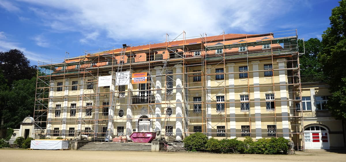 Altmark, Tangerhütte: das Neue Schloss. Foto: Beate Ziehres