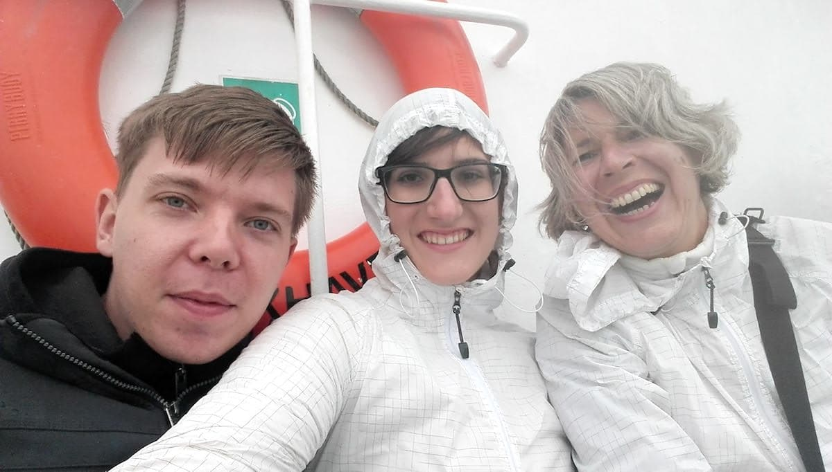 Auf dem Schiff nach Helgoland. Foto: Lena Ziehres