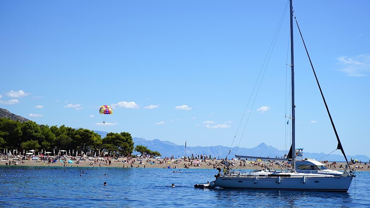 Insel Brac, Kroatien, Strand Zlatni Rat. Foto: Beate Ziehres