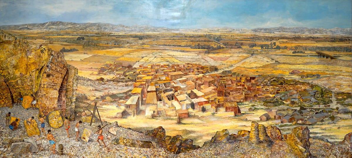 Bild im Museum Chemtou, Nordtunesien. Foto: Beate Ziehres