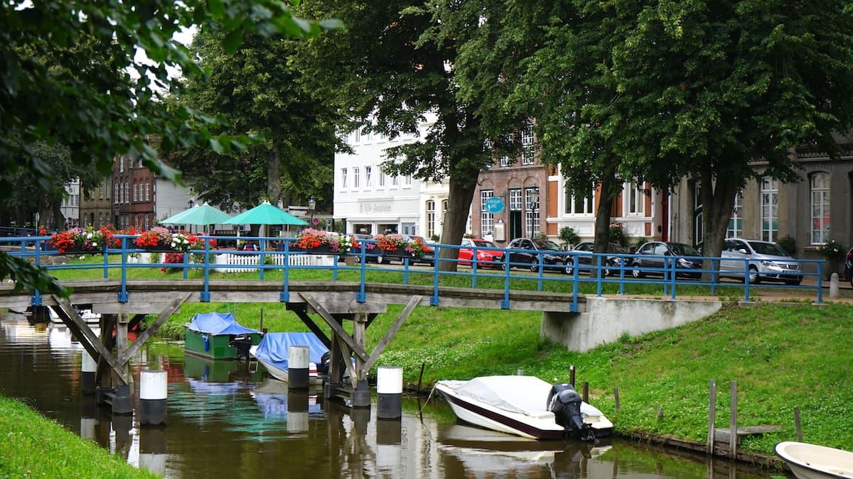 Friedrichstadt, Schleswig Holstein: Gracht. Foto: Beate Ziehres