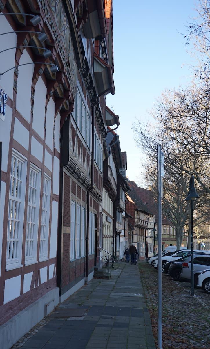Fachwerkhäuser am Holzberg. Foto: Beate Ziehres