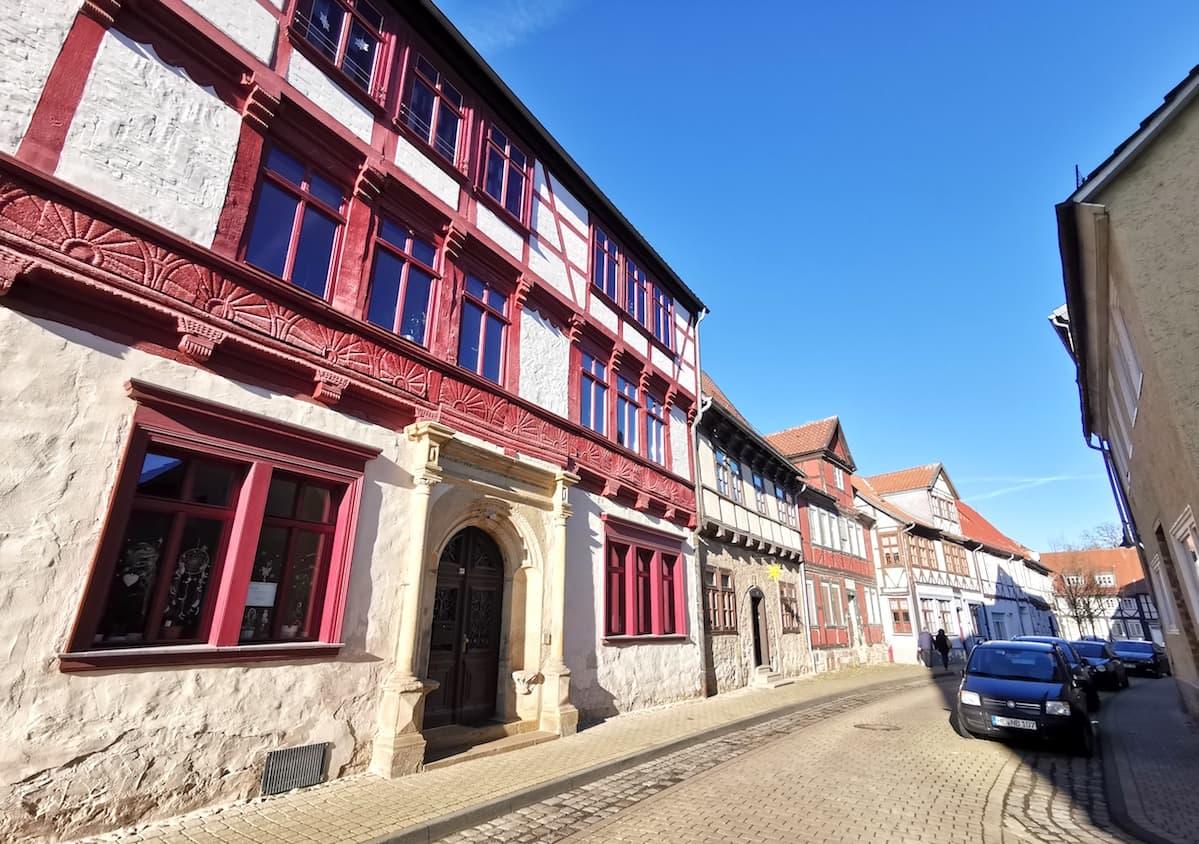 Fachwerkhäuser in der Kybitzstraße. Foto: Beate Ziehres