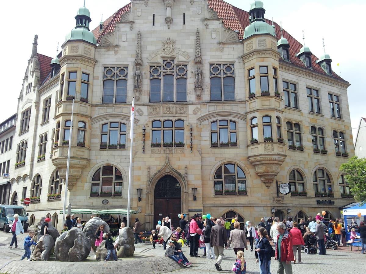 Rathaus Helmstedt. Foto: Beate Ziehres