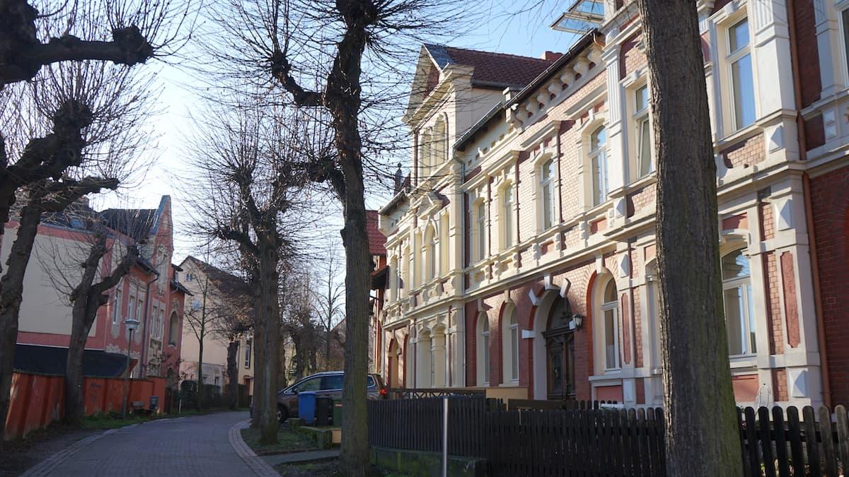 Häuser am Wall. Foto: Beate Ziehres