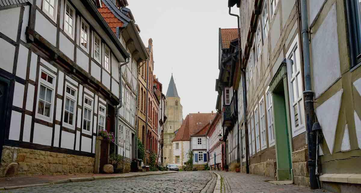 Erhaltene Fachwerkhäuser in der Straße Hinterer Brühl – Foto: Beate Ziehres