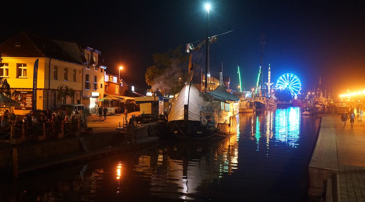 Vergnügungspark am Hafen von Leba – Foto: Beate Ziehres