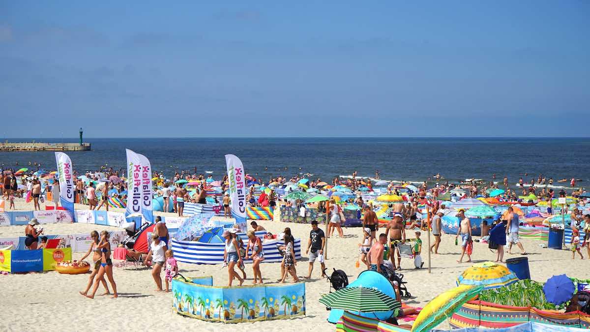 Der Strand an der polnischen Ostsee bei Leba – Foto: Beate Ziehres
