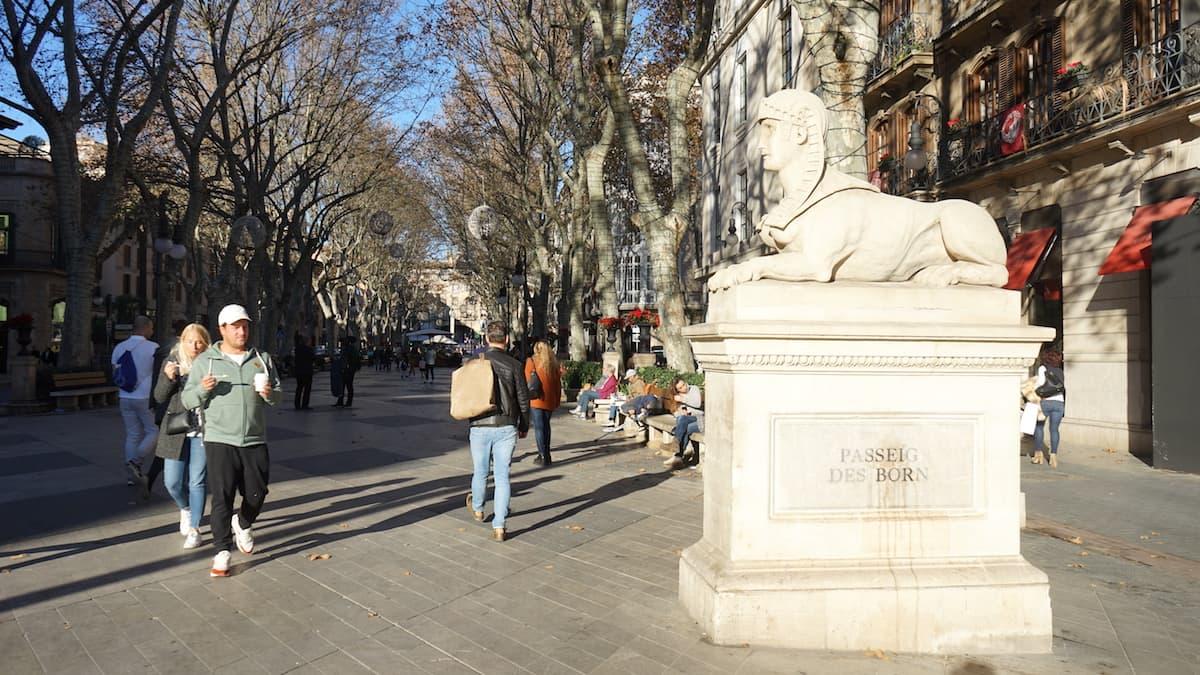Palma de Mallorca: Passeig des Born im Winter. Foto: Beate Ziehres