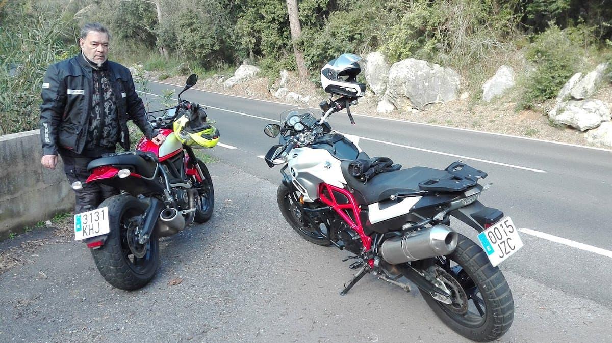 Motorradfahren auf Mallorca im Winter, mit Bernd Ewert. Foto: Beate Ziehres