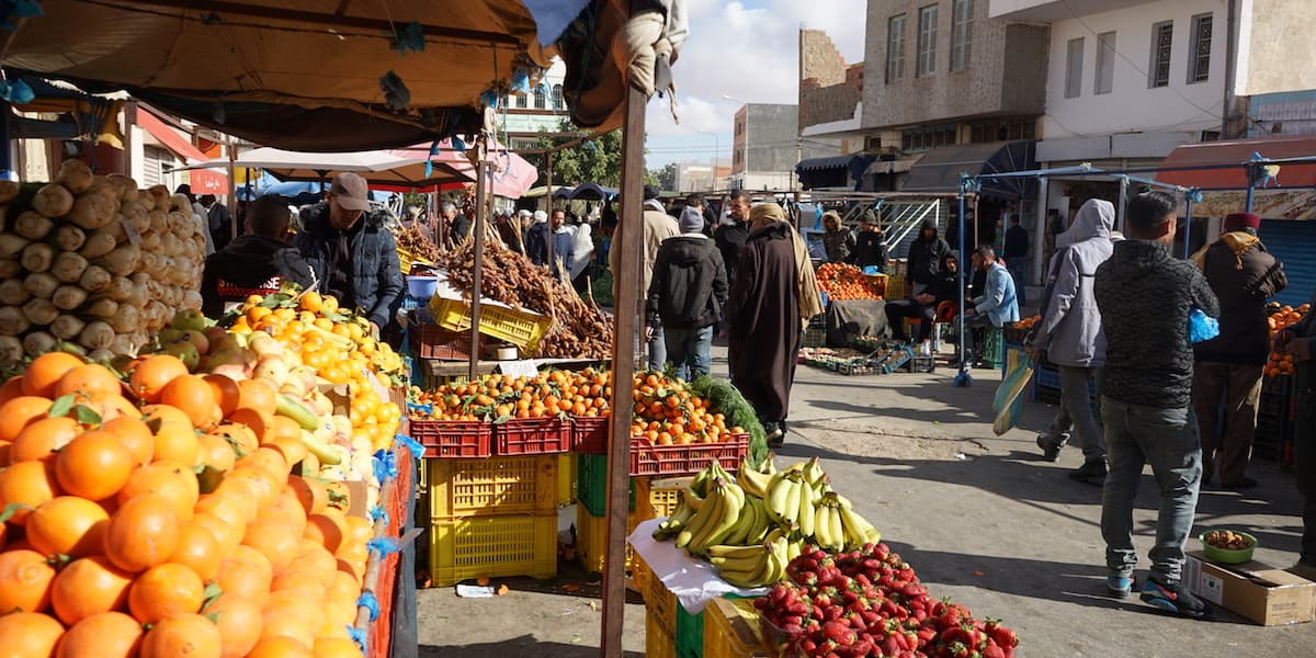 Essen in Tunesien: Markt in Tataouine
