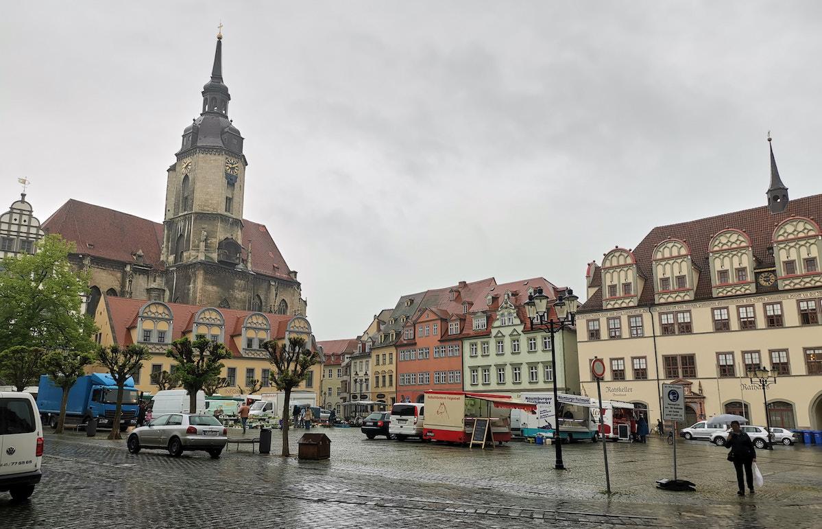 Marktplatz in Naumburg. Foto: Beate Ziehres, Reiselust-Mag