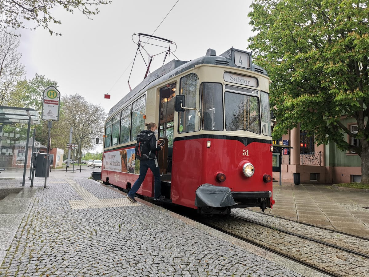 Naumburger Straßenbahn. Foto: Beate Ziehres, Reiselust-Mag