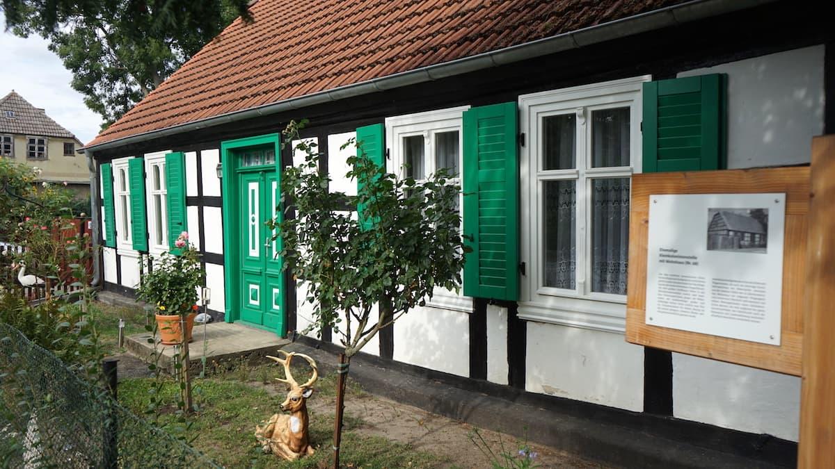 Oderbruch, Neulietzegöricke, typisches Kolonistenhaus. Foto: Beate Ziehres