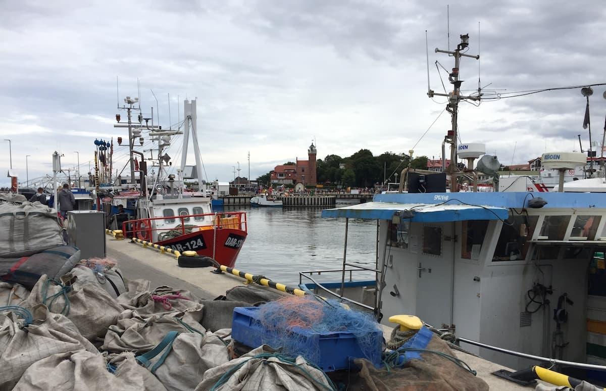 Fischereihafen von Ustka, Polen. Foto: Beate Ziehres