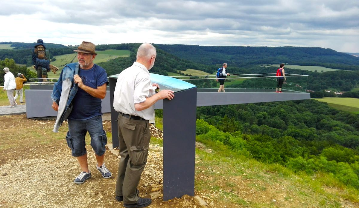Blick vom Sonnenstein ins Eichsfeld– Foto: Beate Ziehres