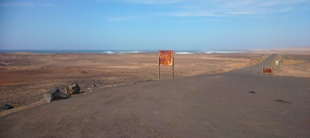 Straßenverhältnisse an der Südspitze Fuerteventuras – Foto: Lena Ziehres