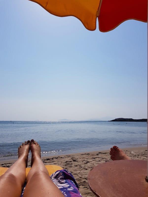 Süßes Nichtstun am Paradise Beach auf Kos – Foto: Lena Ziehres