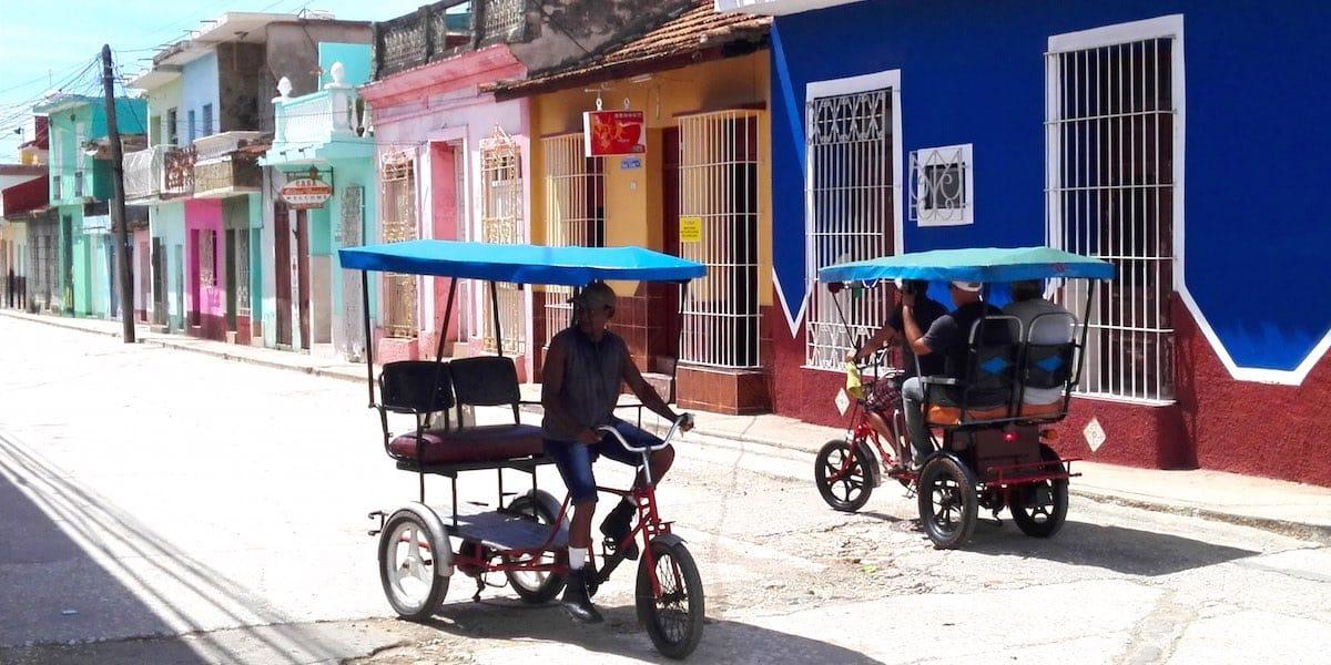 ... und Fahrrad-Taxen – Foto: Beate Ziehres