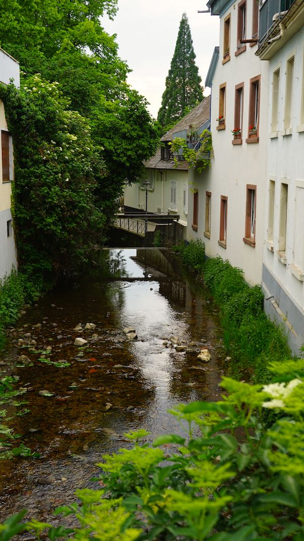 Der Klemmbach fließt durch Müllheims Stadtmitte – Foto: Beate Ziehres