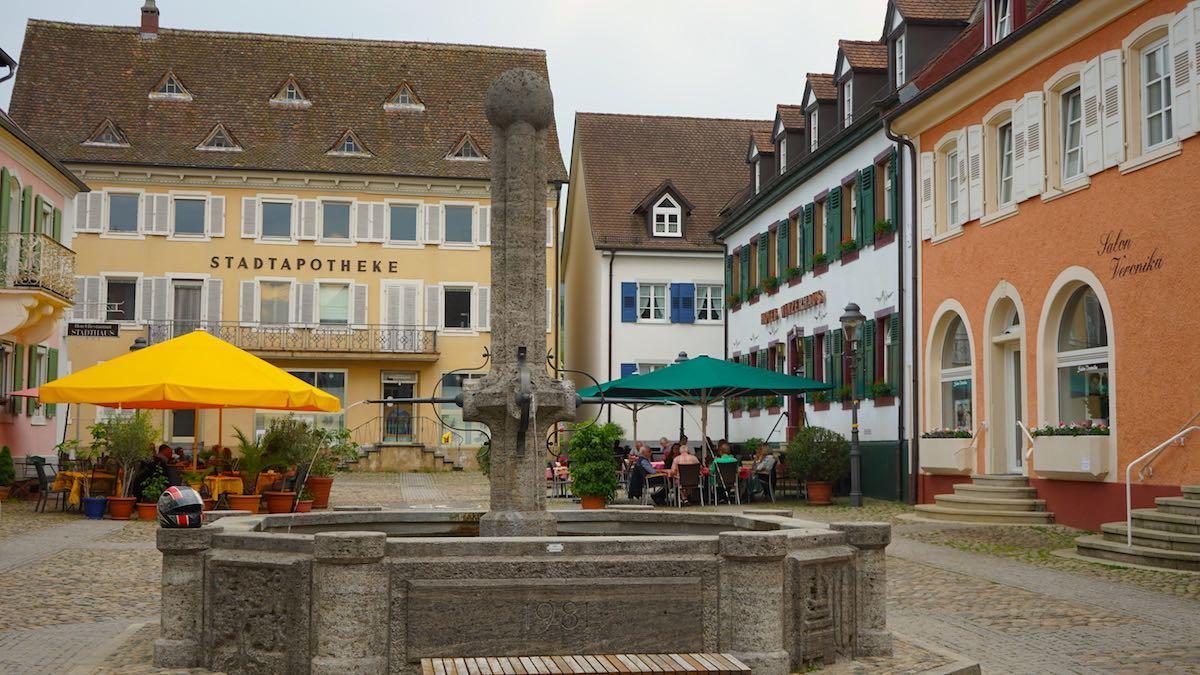Der Marktplatz in Müllheim – Foto: Beate Ziehres
