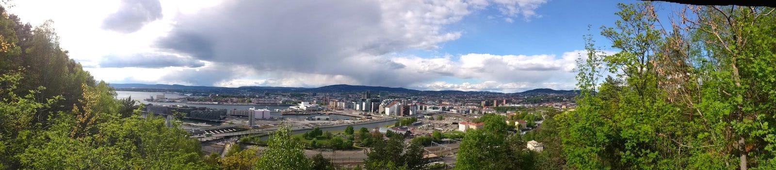 Atemberaubendes Oslo-Panorama, vom Ekebergparken aus gesehen – Foto: Lena Ziehres