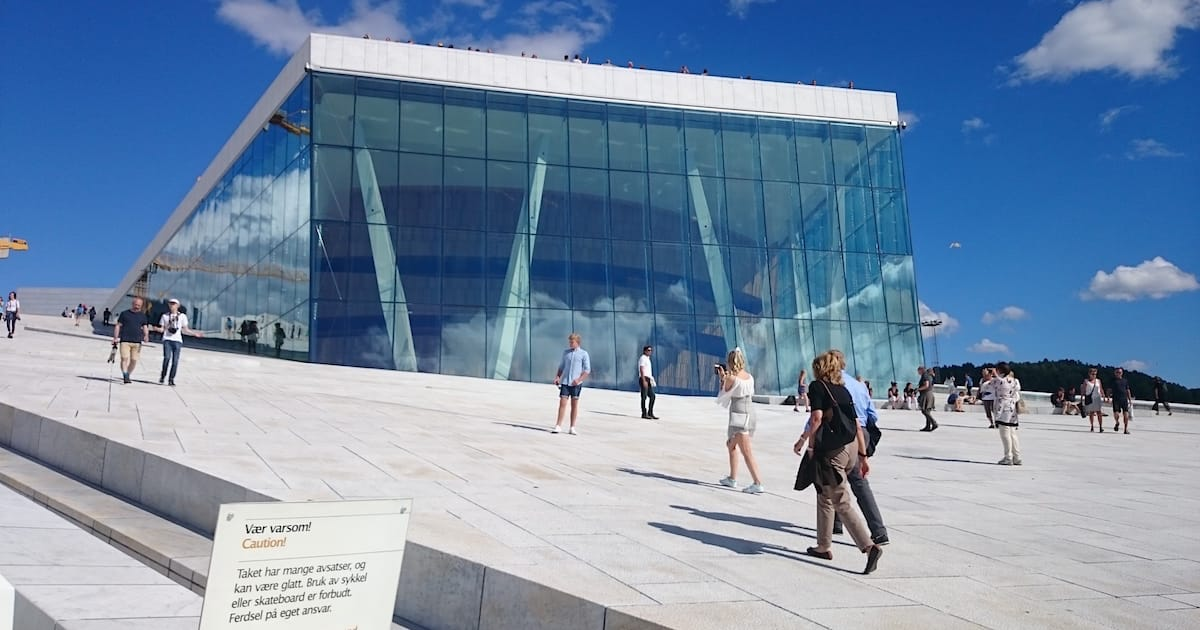 Auf dem Dach der Oper in Oslo – Foto: Lena Ziehres