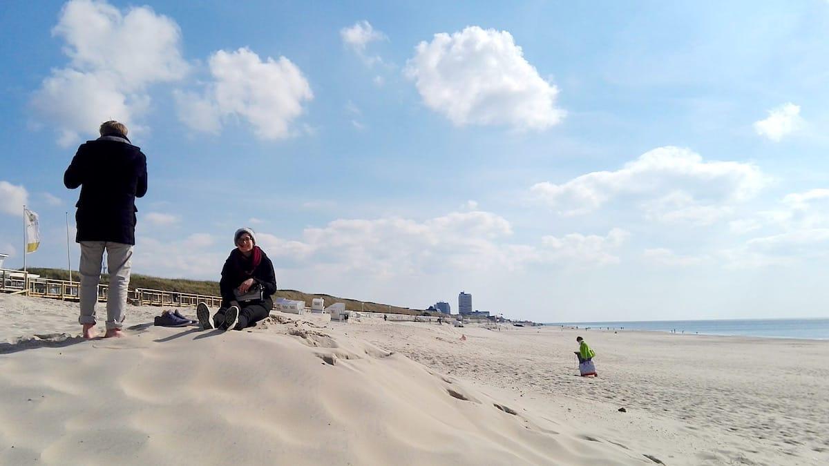 Tagesausflug Sylt. Himmlisch: einsamer Strand – Foto: Beate Ziehres