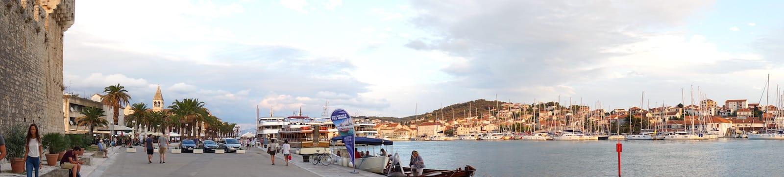 Reiselust-Mag: Trogir, Altstadthafen. Foto: Beate Ziehres