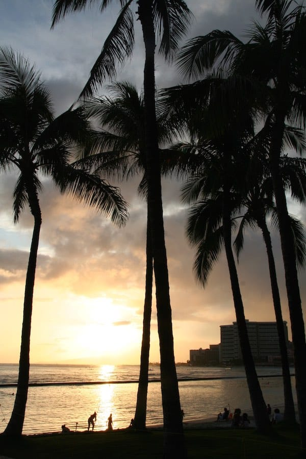 Sonnenuntergang in Waikiki – Foto: Beate Ziehres