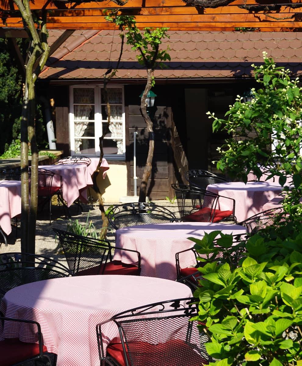 """Garten des Gasthof """"Ochsen"""" in Feldberg. Foto: Beate Ziehres"""