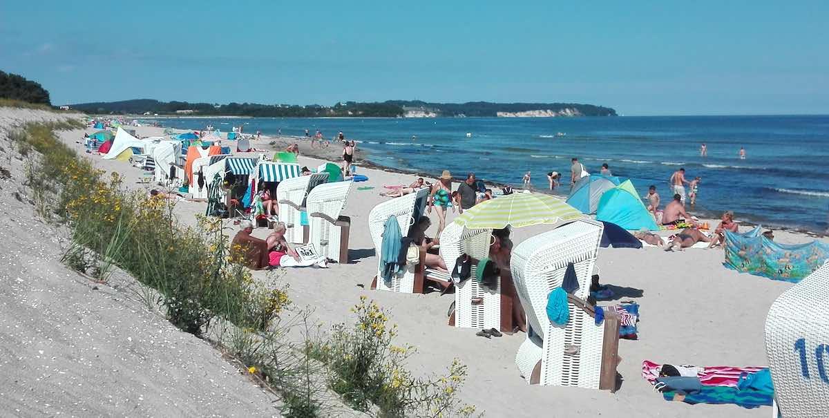 Der Strand von Thiessow – Foto: Beate Ziehres