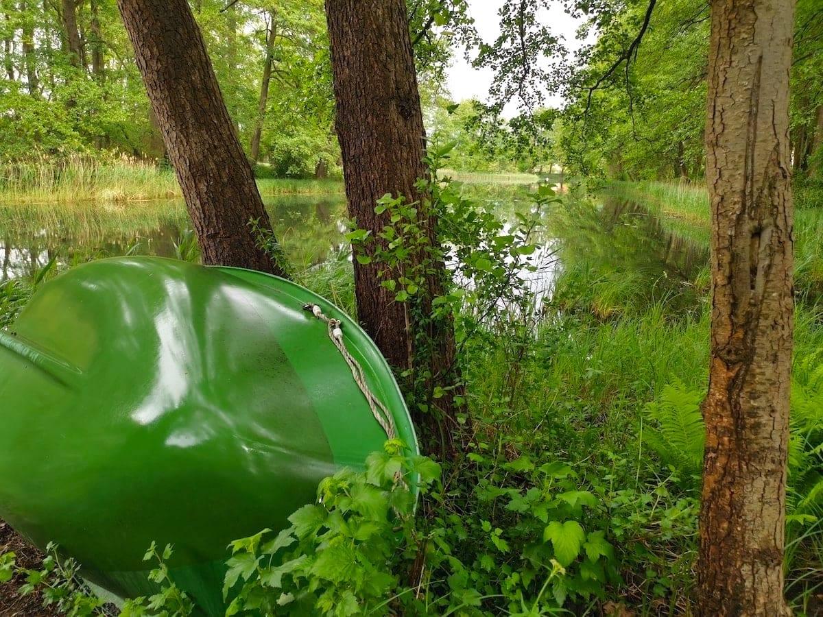 Groß Lindow, Friedrich-Wilhelm-Kanal, Boot. Foto: Beate Ziehres