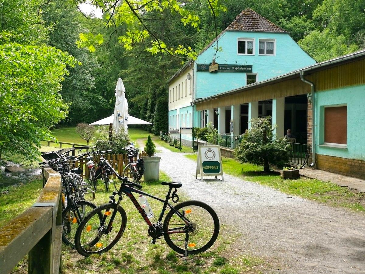 Schlaubetal, Kupferhammer, Gaststätte, Radtour. Foto: Beate Ziehres