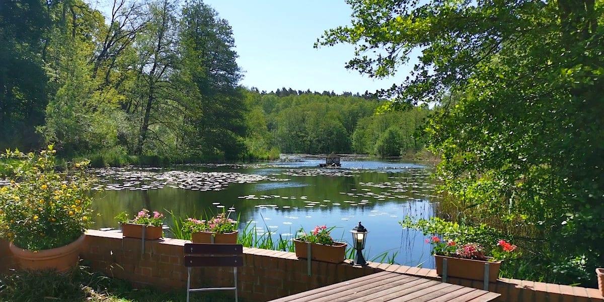Mühlenteich an der Ragower Mühle, Schlaubetal. Foto: Beate Ziehres