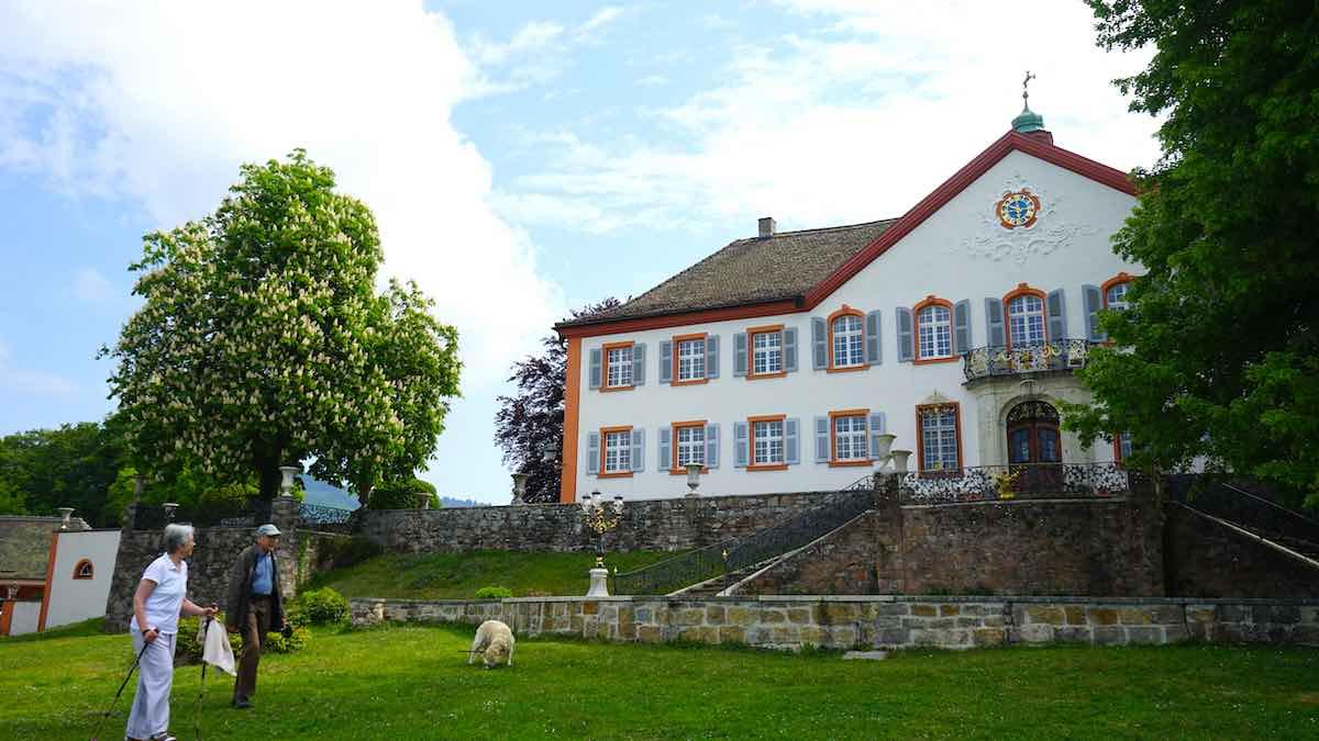 Das Grün vor dem Schloss ist eine beliebte Kulisse für Hochzeitsbilder – Foto: Beate Ziehres
