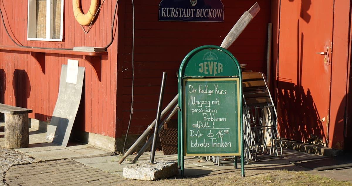 Seenland Oder-Spree, Buckow, Märkische Schweiz, Schermützelsee, Betreutes Trinken. Foto: Beate Ziehres