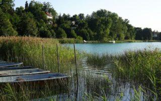 Seenland Oder-Spree, Märkische Schweiz, Schermützelsee, Buckow. See mit Booten. Foto: Beate Ziehres