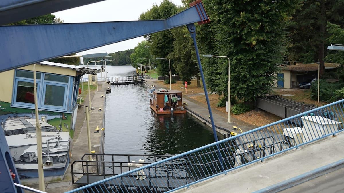 Seenland Oder-Spree, Woltersdorf, Woltersdorfer Schleuse, Klappbrücke. Foto: Beate Ziehres, Reiselust-Mag