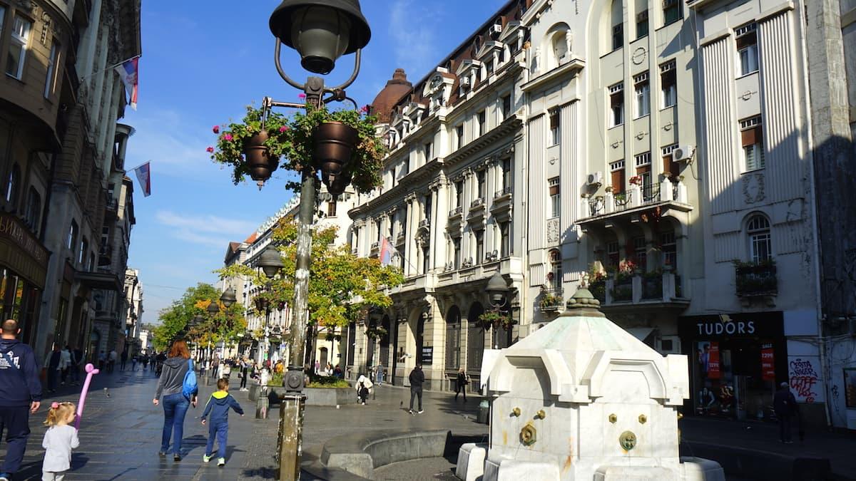 Serbien: Knez Mihailova in Belgrad. Foto: Beate Ziehres