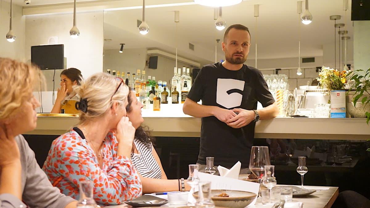 Serbische Küche: New Balkan Cuisine bei Iva in Belgrad. Begründer Vanja Puskar. Foto: Beate Ziehres