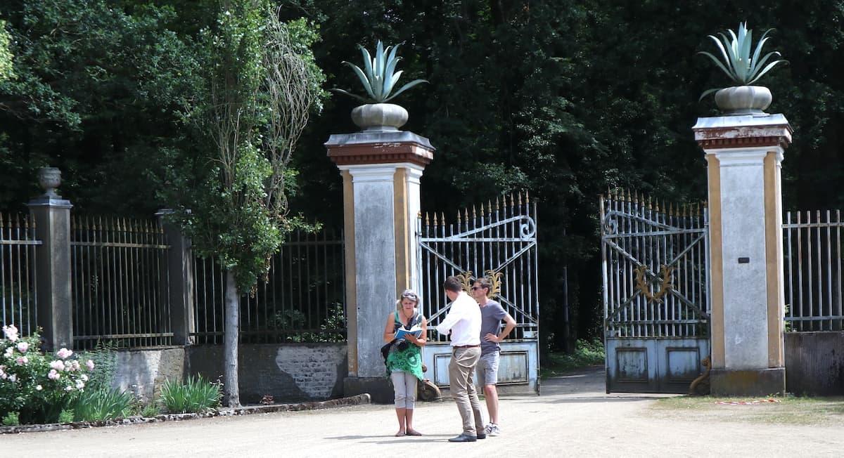 Tangerhütte: Eingang zum Stadtpark. Foto: Sibylle Paetow