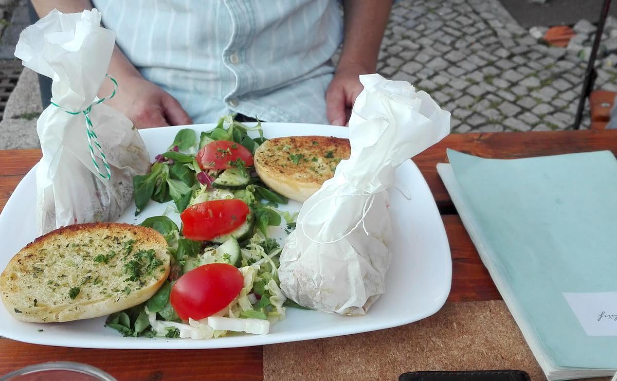 Tangermünde Exempel Gaststuben: der vegetarische Hansesack 2 Punktnull. Foto: Beate Ziehres