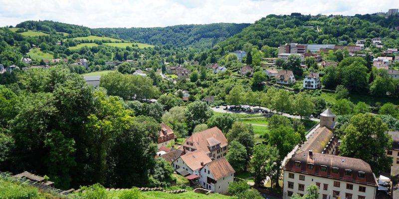 Blick von der Burg Wertheim ins untere Taubertal – Beate Ziehres