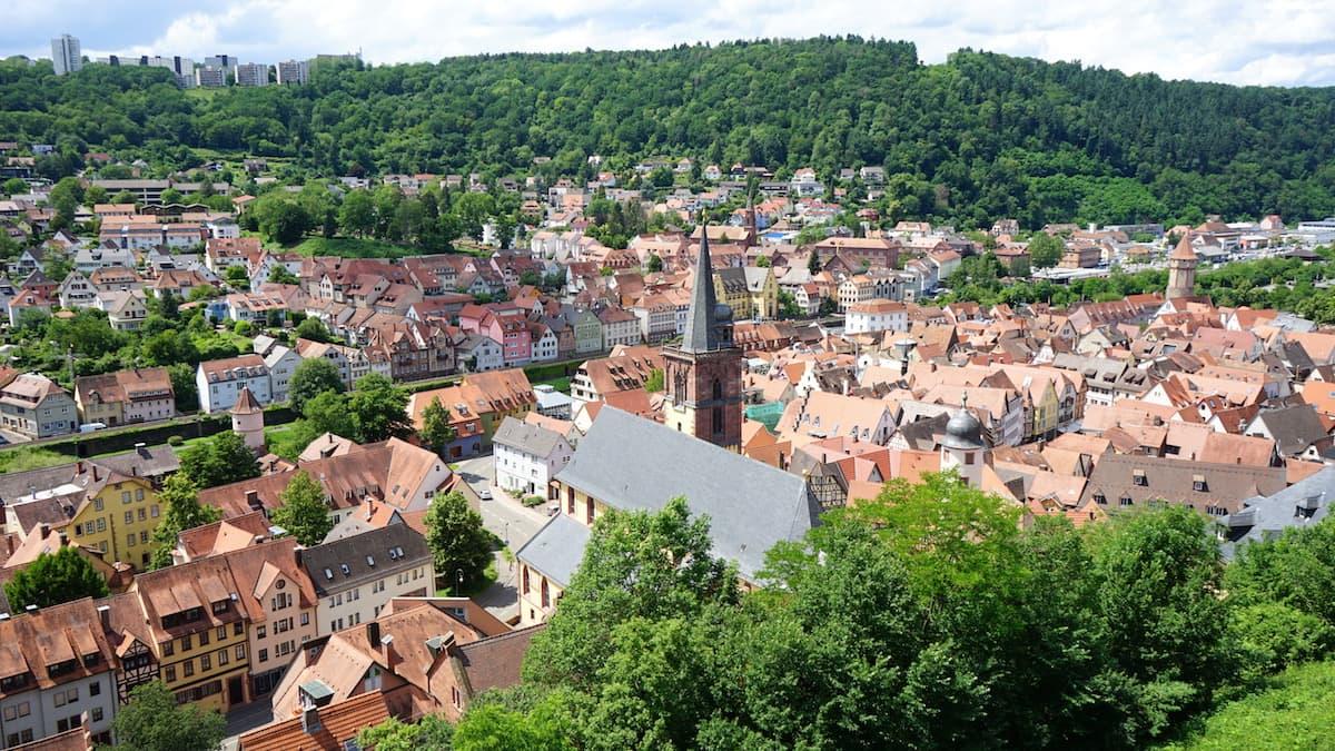 Taubertal: Wertheim von der Burg aus betrachtet – Beate Ziehres