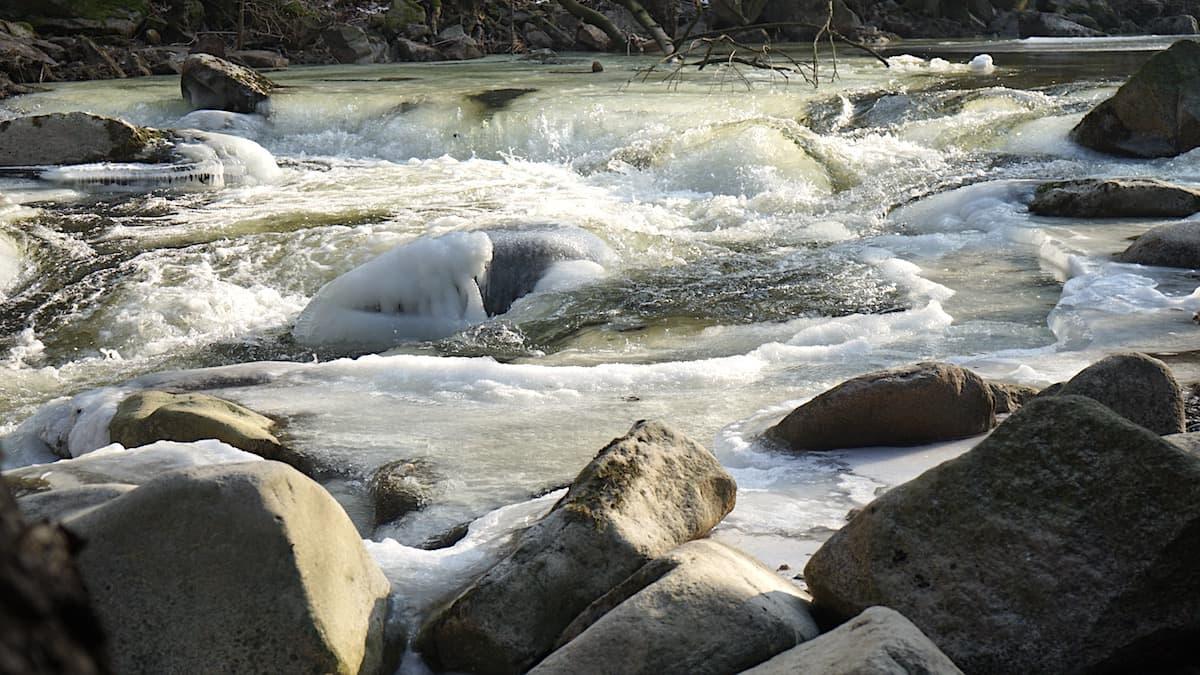 Winterstimmung an der Bode. Foto: Beate Ziehres