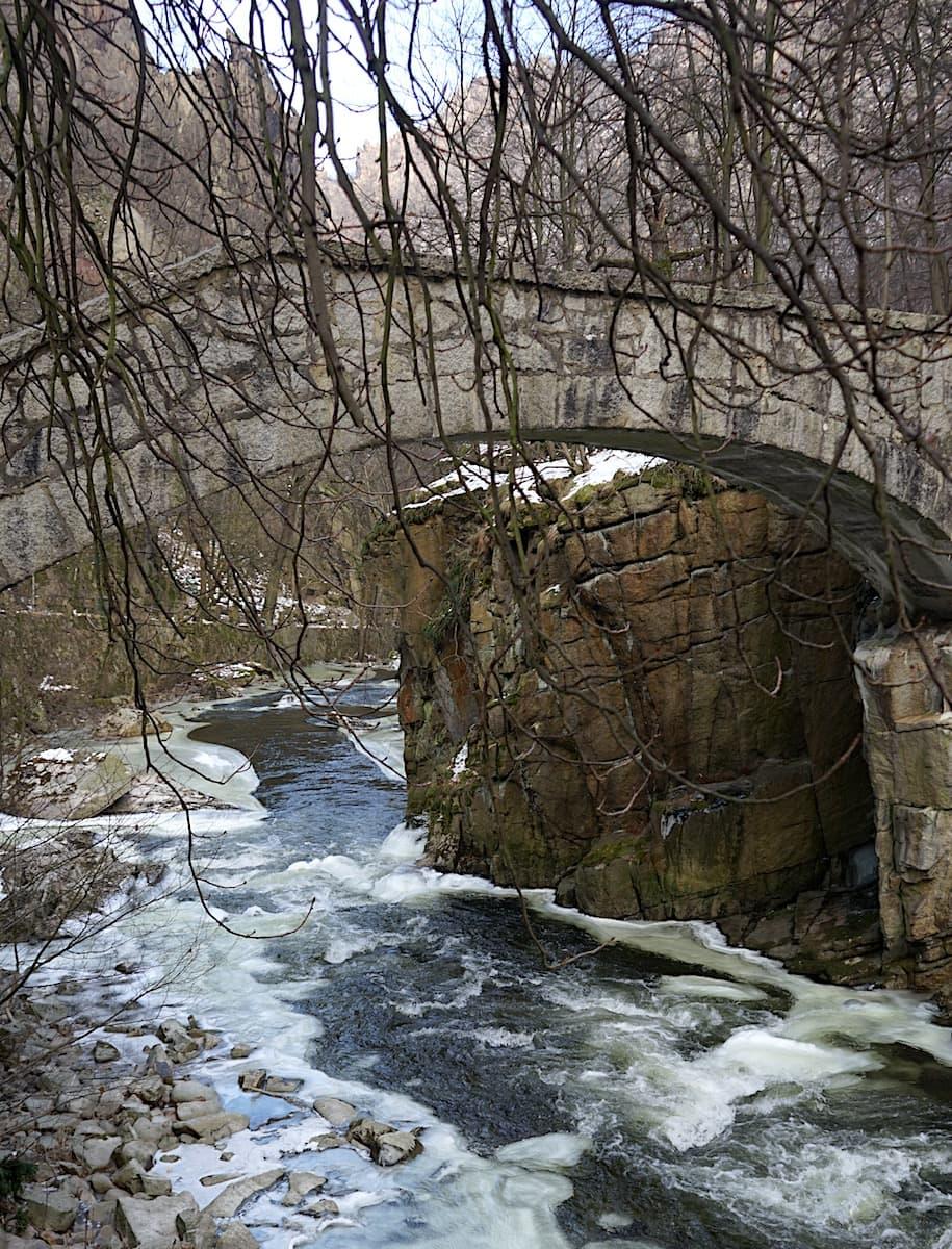 Brücke über die Bode an der Gaststätte Königsruhe. Foto: Beate Ziehres