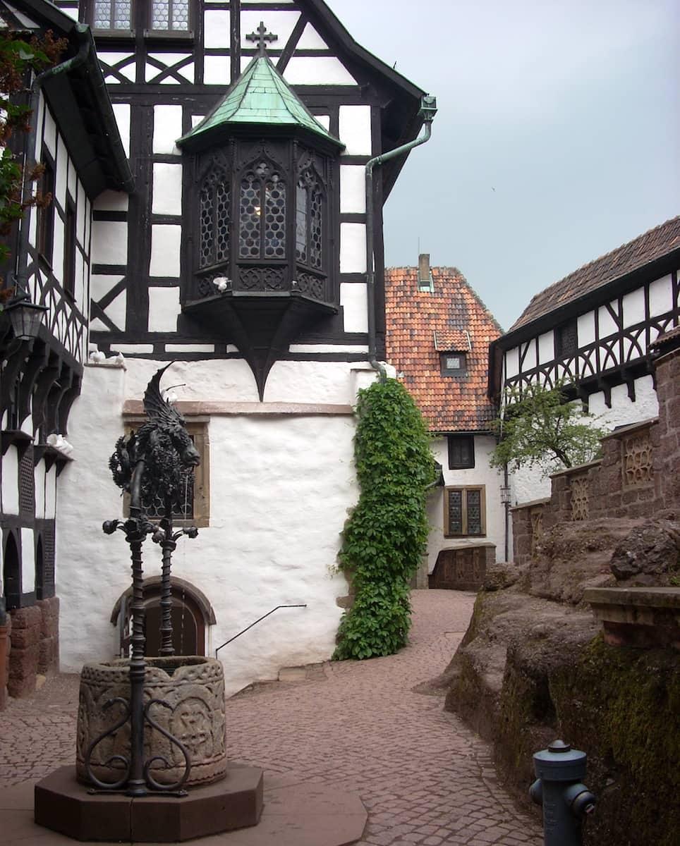 Hof der Wartburg in Thüringen. Foto: Beate Ziehres