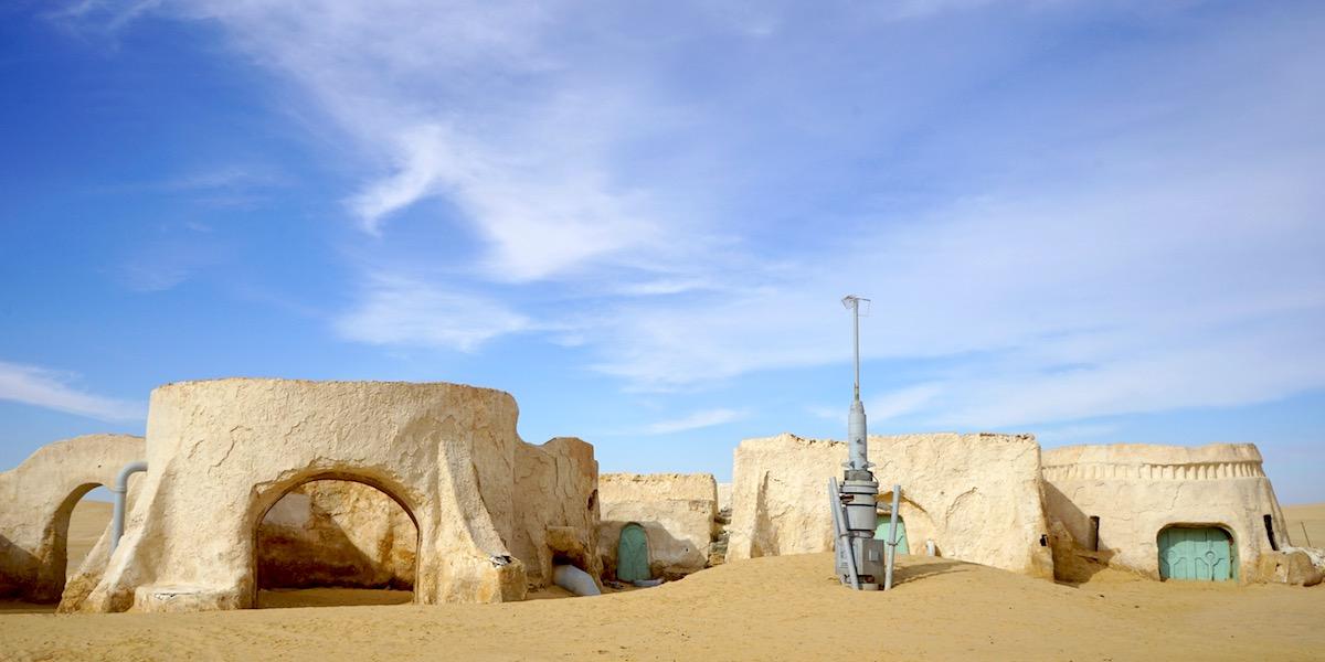 Star Wars Filmset Mos Espa in Tunesien.