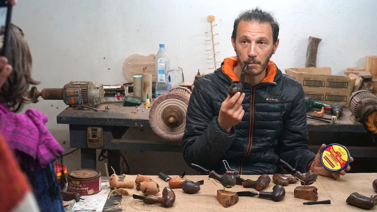 Anis Bouchnak, Pfeifen, Tabarka, Tunesien. Foto: Beate Ziehres